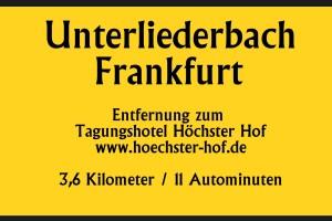 Unterliederbach 3,6km 11 Autominuten bis Tagungshotel Höchster Hof